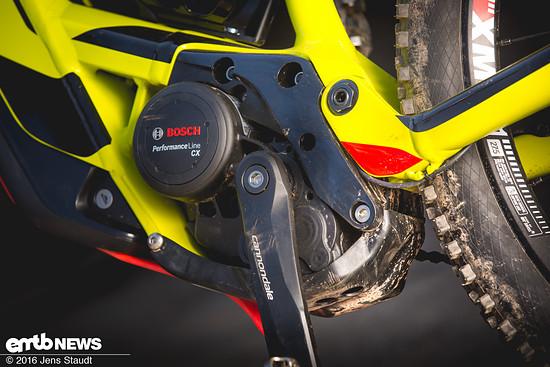 Die Si Motorhalterung und das Ai Kettenblatt sorgen für eine optimale Positionierung im Rahmen und eine ideale Kettenlinie.