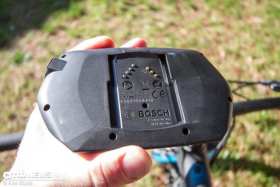 Rückseite des Bosch Nyon Computers