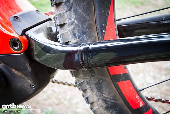 Das Kit ist genau an die Schweißlinien des jeweiligen Bike-Modells angepasst.