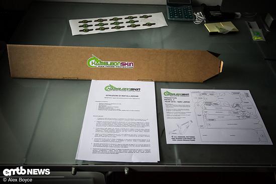 Jedes Set wird mit  einer detailierten Anweisung geliefert, wo das Kit zu platzieren ist.