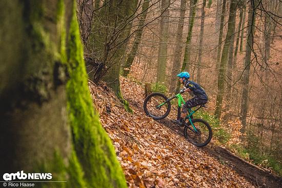 Steile Uphills erfordern viel Druck auf dem Vorderrad