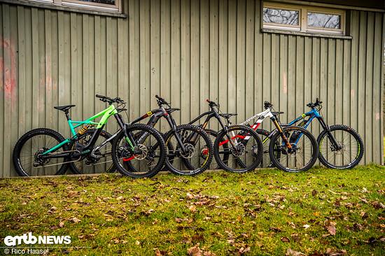 Unsere E-Freeride-Bikes im Test