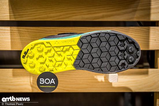 Diese Variante gibt es bisher nur als Flat-Pedal Schuh