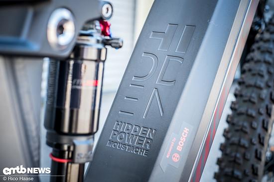 Die versteckte Kraft befindet sich um Unterrohr des Powertube Akkus von Bosch