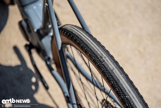 Die Reifen von WTB rollen extrem gut und dämpfen kleinere Schläge wirkungsvoll ab