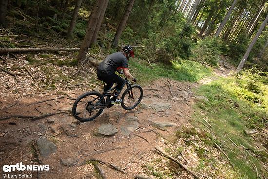 ... steile Uphill-Passagen können ohne Furcht ausgecheckt werden