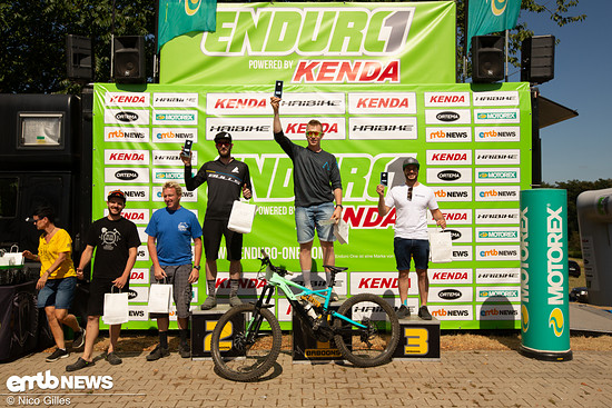 Das Podium der Kenda Enduro One in Wipperfürth 2018