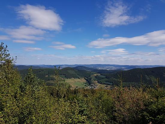 Blick in Richtung Schmallenberg