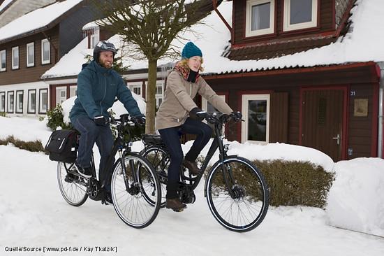 E-Bikes machen auch im Winter Spaß