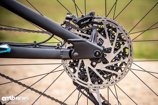 ... bremsen auf großen 200 mm Bremsscheiben