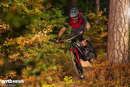 Auf flowigen Trails machten uns die BiturboE-Laufräder besonders viel Spaß.