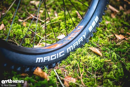 Die Schwalbe Magic Mary-Reifen sind eigentlich Garant für Traktion und Grip