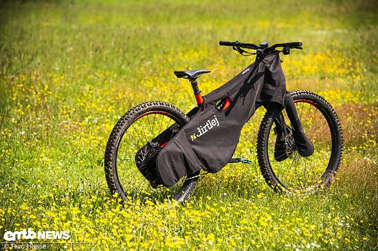 Sämtliche Kontaktstellen und empfindliche Bauteile wie Bremsscheiben, Schaltwerk oder Standrohre werden vom Bikewrap geschützt