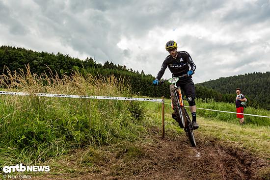 Marc Oppermann (Team Bulls) holt sich in Roßbach den Sieg in der E-Bike-Wertung