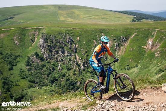 Bergauf macht das Focus mit seiner aufrechten Sitzposition Spaß