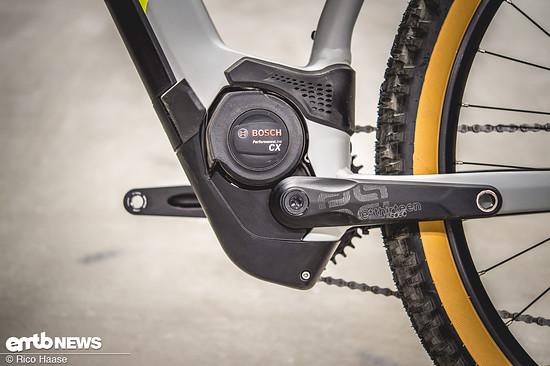 In allen E-Mountainbikes von Cube arbeitet ein Bosch Performance CX Gen4-Motor