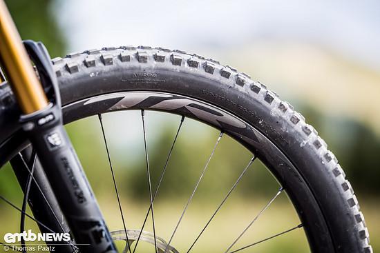 Giant TRX Carbon-Felgen halten die MAXXIS Minion und High Roller II Reifen im Zaum