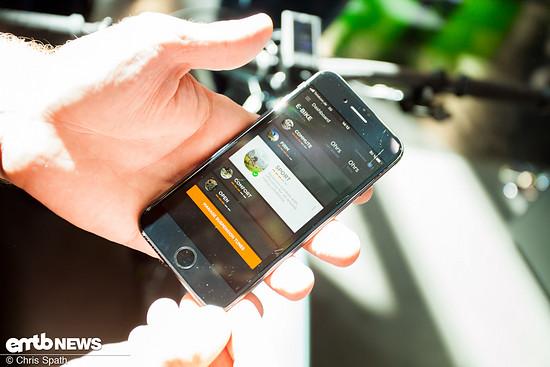Mit dem E-Bike-System wird auch eine App gelauncht