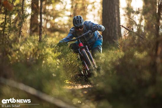 """""""Immer Vollgas!"""" unser Tester Rico versucht, den Trail immer mit ordentlich Speed zu fahren, denn das macht ihm am meisten Spaß!"""