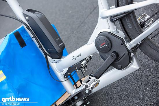 Bosch CX-Motor und 500-Wh-Akku im Hauptrahmen
