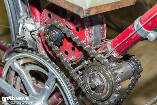 Ein Scheibenwischermotor als Elektro-Antrieb