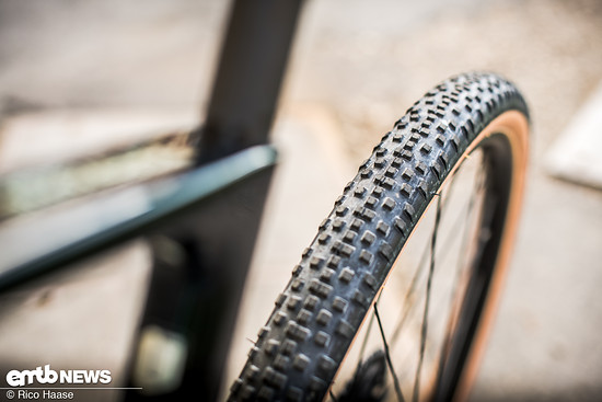 Die WTB Resolute-Reifen, 650b x 42c, haben ein offenes Profil und sind natürlich tubeless-ready