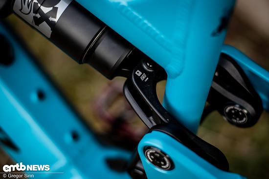 Ein gut versteckter Flipchip in der Dämpferaufnahme erlaubt es, sowohl ein 29″- als auch ein 27,5″-Hinterrad einzubauen.