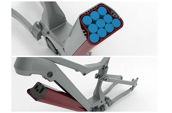Das integrierte 900-Wh-Akkupack umfasst 50 Zellen vom Typ 21700