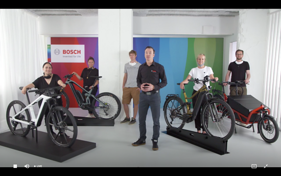 Claus Fleischer, CEO Bosch eBike Systems, präsentiert mit seinem Team die Bosch-Neuheiten während der virtuellen Bosch Sneak Preview 2020