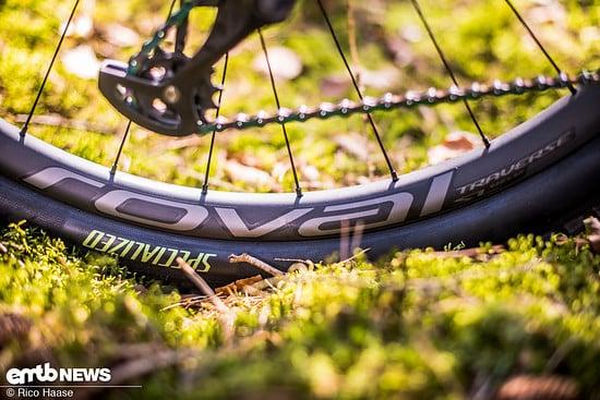 Bei den Laufrädern setzt Specialized  beim S-Works-Modell auf leichte Traverse SL mit Carbon-Felgen