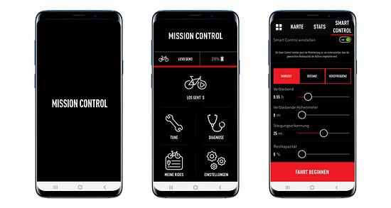 Die Mission Control-App von Specialized ist übersichtlich gestaltet und bietet allerlei sinnvolle Einstellmöglichkeiten
