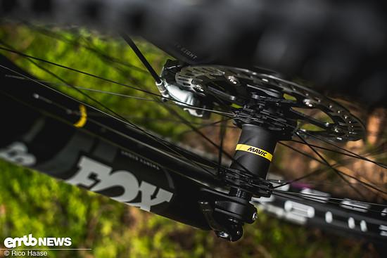 Um das E-Bike bist 140 Kilogramm Gesamtgewicht freizugeben, wurden stabile Mavic E-Deemax-Laufräder montiert