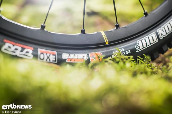 Damit man auf 140 Kilogramm zulässiges Gesamtgewicht kommt, wurden extrem stabile Mavic E-Deemax-Laufräder verbaut
