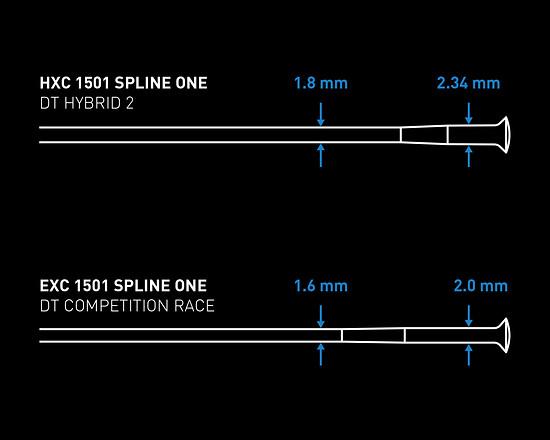 Die Speichen der Hybrid-Laufräder von DT Swiss sind stärker dimensioniert.