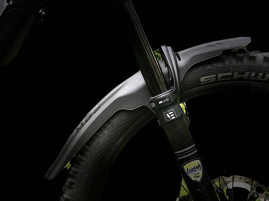 Der Fender sitzt am 27.5er Vorderrad ebenfalls perfekt!