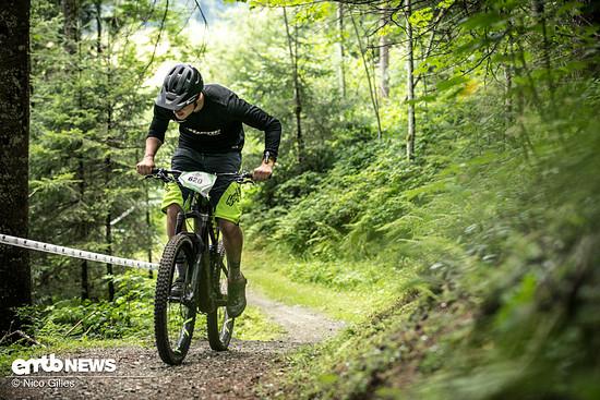 Uphill im Renntempo ist hart