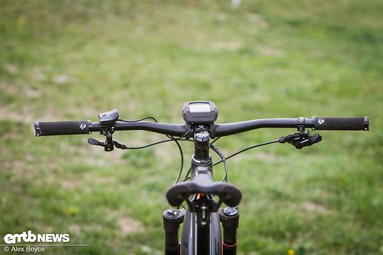 Unserer Meinung nach ist das Intuvia Display zu groß für diese Art von Bike.