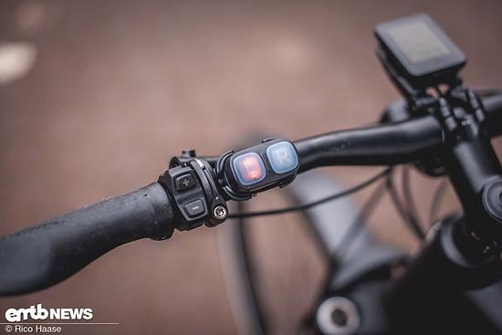 Per Bluetooth wird geblinkt: Links blinken und ...