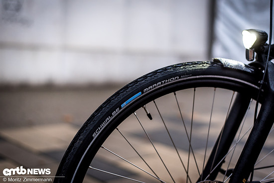Schwalbe Marathon-Reifen sorgen für den nötigen Grip